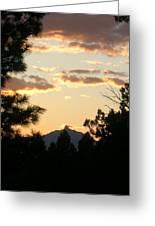 Sunset On Washington Greeting Card