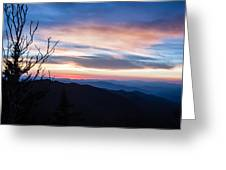 Sunset On Water Rock Knob Blue Ridge Parkway Scenic Photo Greeting Card