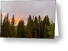 Sunset On West Beckwith Peak Greeting Card