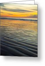 Sunset On Wet Sandy Beach Seascape Fine Art Photography Print  Greeting Card