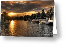 Sunset Over Amsterdam  Greeting Card