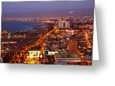Sunset Over Arica Chile Greeting Card