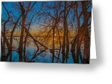 Sunset Over Barr Lake_2 Greeting Card by Tom Potter