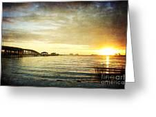 Sunset Over Biloxi Bay Greeting Card