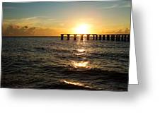Sunset Over Boca Grande Florida Greeting Card by Fizzy Image