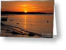 Sunset Over Brewster Flats Greeting Card