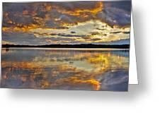 Sunset Over Canobie Lake Greeting Card