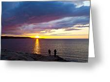 Sunset Over Canso Bay Greeting Card