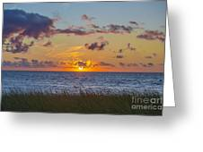 Sunset Over Cape Cod Bay Greeting Card
