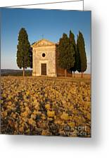 Sunset Over Cappella Di Vitaleta Greeting Card