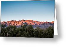 Sunset Over Death Valley Greeting Card