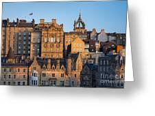 Sunset Over Edinburgh Greeting Card