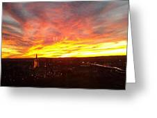 Sunset Over Hartford Greeting Card