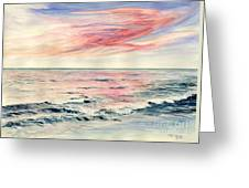 Sunset Over Indian Ocean Greeting Card