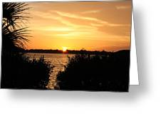 Sunset Over Intercoastal Greeting Card