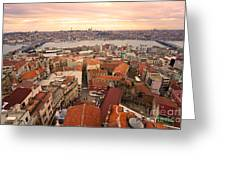 Sunset Over Istanbul Greeting Card