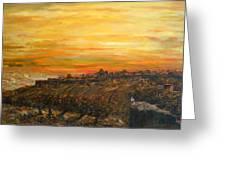 Sunset Over Jerusalem Greeting Card