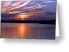 Sunset Over Jordan Greeting Card