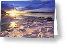Sunset Over Knik Arm & Six Mile Creek Greeting Card