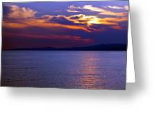 Sunset Over Korcula Greeting Card