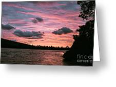 Sunset Over Lake Bailey Greeting Card