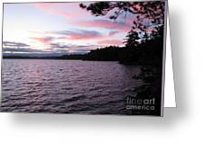 Sunset Over Lake Catchacoma 2 Greeting Card