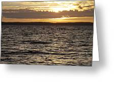 Sunset Over Lake Cazaux Greeting Card