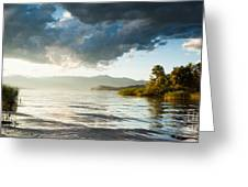 Sunset Over Lake Maggiore In Italy Greeting Card