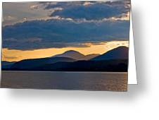 Sunset Over Lake Pend Oreille Greeting Card