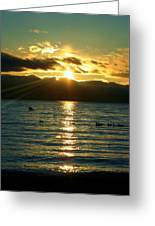 Sunset Over Lake Tahoe Greeting Card