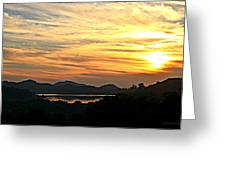 Sunset Over Lake Wohlford Greeting Card