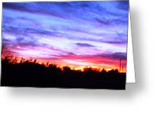 Sunset Over Madisonville Greeting Card by Regina McLeroy