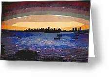 Sunset Over Miami Greeting Card