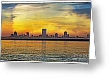 Sunset Over Milwaukee Greeting Card