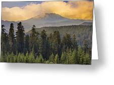 Sunset Over Mount St Helens Greeting Card
