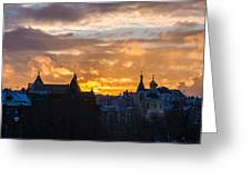 Sunset Over Old Moscow - Featured 2 Greeting Card