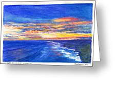Sunset Over Point Lonsdale As Viewed From Cape Schanck  Greeting Card