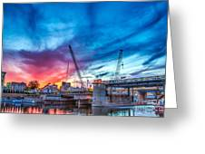 Sunset Over St. Paul Greeting Card