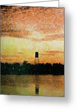 Sunset Over Tarpon Springs Greeting Card