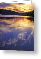 Sunset Over The Arkansas River Greeting Card