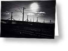 Sunset Over The Bridge Greeting Card