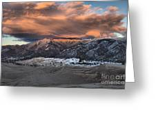 Sunset Over The Dunes Greeting Card