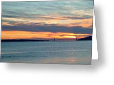 Sunset Over The Golden Gate Greeting Card