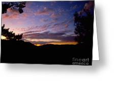Sunset Over The Hills Greeting Card