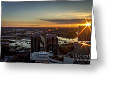 Sunset Over The James Greeting Card