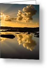 Sunset Over The Ocean V Greeting Card