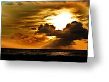 Sunset Over The Pacific II Greeting Card by Helen Carson