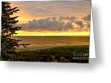 Sunset Over The Pacific Ocean Greeting Card