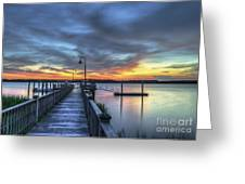 Sunset Over The River Greeting Card