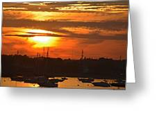 Sunset Over The Salem Willows Greeting Card